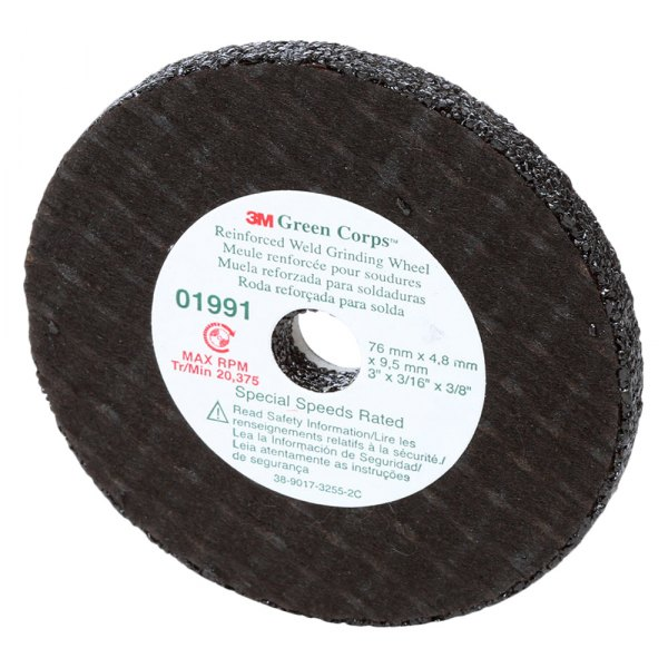 Remarkable 3M 1991 Green Corps 3 Reinforced Weld Bench Grinding Wheel 3 16 Thickness 3 8 Arbor Aluminum Oxide Bralicious Painted Fabric Chair Ideas Braliciousco