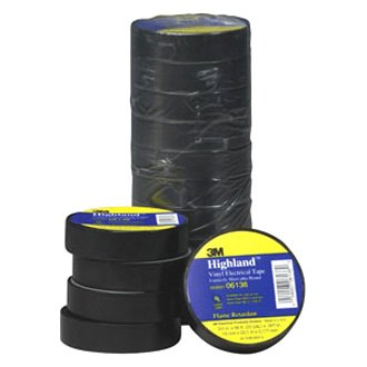 UL-Listed, BYBON Vinyl Electrical Tape,Blue,3//4 in x 60 ft 2-Roll