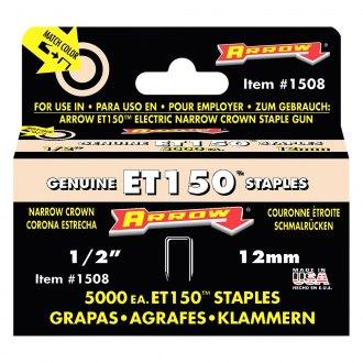5,000-Pack Arrow Fastener 1508 Genuine ET150 1//2-Inch Staples