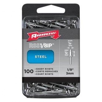 "1//8/""X5//8/"" Steel//Steel Blind Pop Rivet 1//8/""X0.630/"" - 100 PCS"