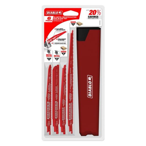 Diablo Tools® - 6-Piece Nail-Embedded Wood & Metal Cutting/Demolition Recip Set