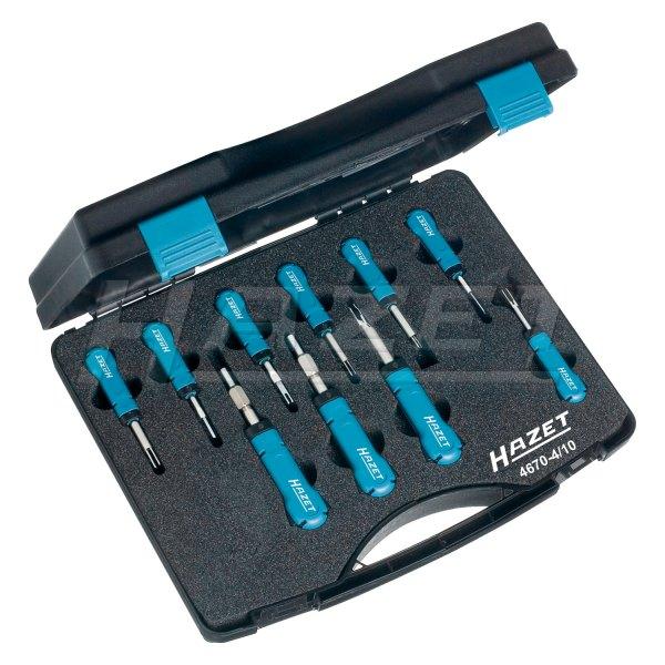 HAZET® 4670-4/10 - 10 Pieces Cable Terminal Removal Tool Set
