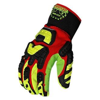 Xtra large IronClad IEX-HZI Impact Touchscreen Hi-Viz Gloves Yellow Orange