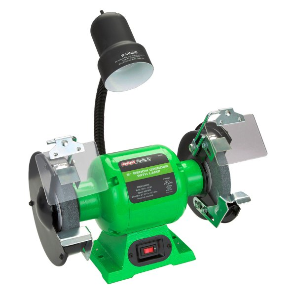 Phenomenal Oem Tools 80058 6 120V 3 5A Bench Grinder With Work Light Caraccident5 Cool Chair Designs And Ideas Caraccident5Info