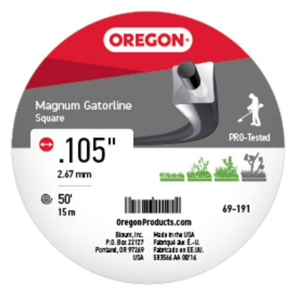 """Oregon 69-191 Magnum Gatorline 50/' Donut 0.105/"""" Gauge Pro Square String Trimmer"""