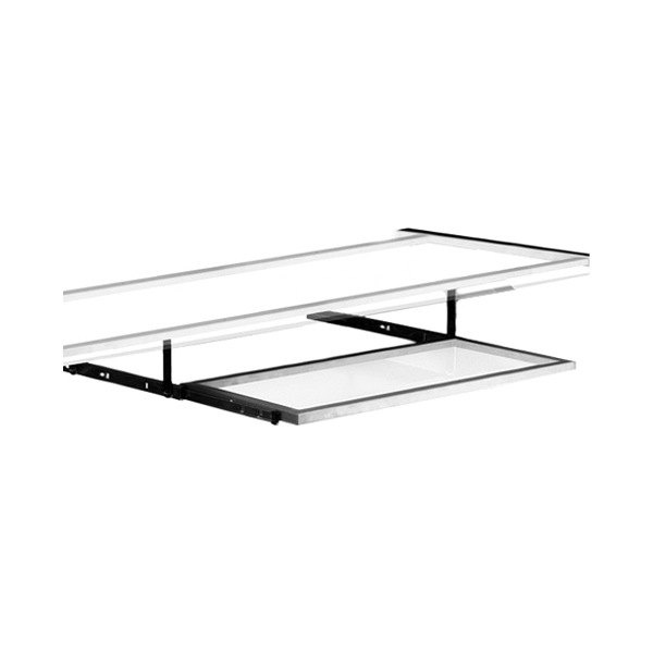 clear glass furniture clear acrylic pitstop furniture clear glass gt spoiler desk pullout keyboard tray kpt300c