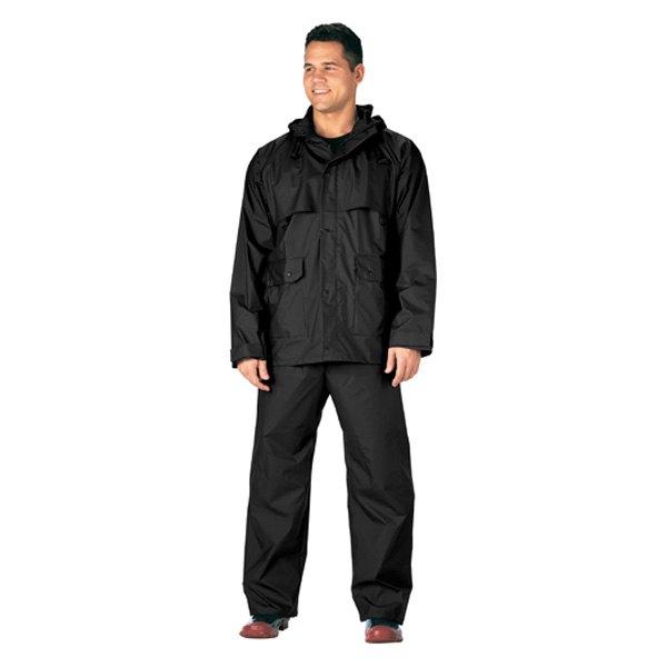 Rothco 3765 Black 2 Piece Microlite PVC Rainsuit