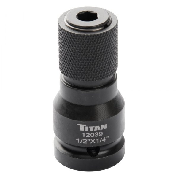 Titan 12039 1//2 Drive to 1//4 Hex Drive Quick Change Adapter
