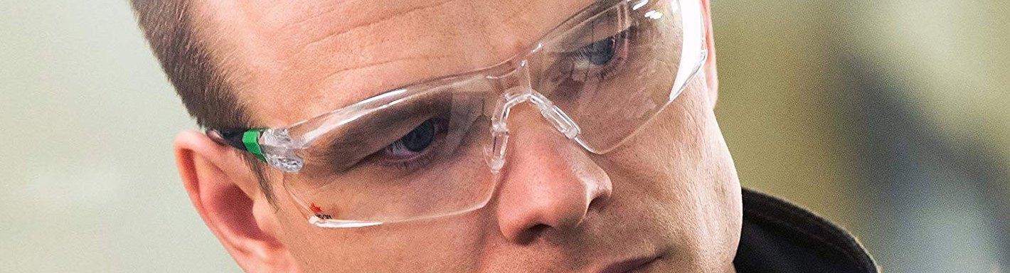 MAGID Y26AFC ANSI z87 OTG Safety Glasses Hi-Viz Green 2 Pair Over-The-Glasses Ratcheting Temple Anti-Fog